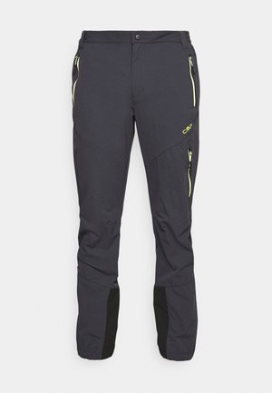 MAN PANT - Friluftsbyxor - antracite/lime