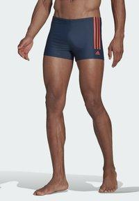 adidas Performance - SEMI 3-STRIPES  - Swimming trunks - blue - 0