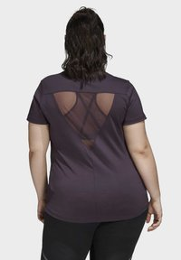 adidas Performance - GLAM ON BADGE OF SPORT LOGO T-SHIRT (PLUS SIZE) - Camiseta estampada - purple - 0