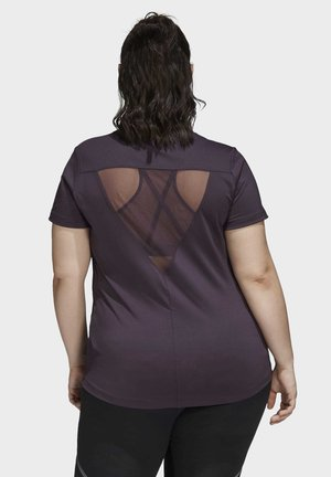 GLAM ON BADGE OF SPORT LOGO T-SHIRT (PLUS SIZE) - Print T-shirt - purple