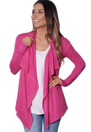 JERSEY WATERFALL - Cardigan - pink
