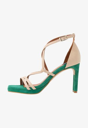 High heeled sandals - skin/vendeca
