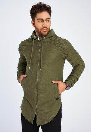 Sweater met rits - khaki