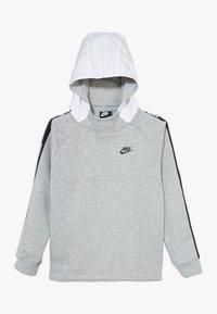 Nike Sportswear - HYBRID  - Hoodie - white/black/dark grey heather - 0