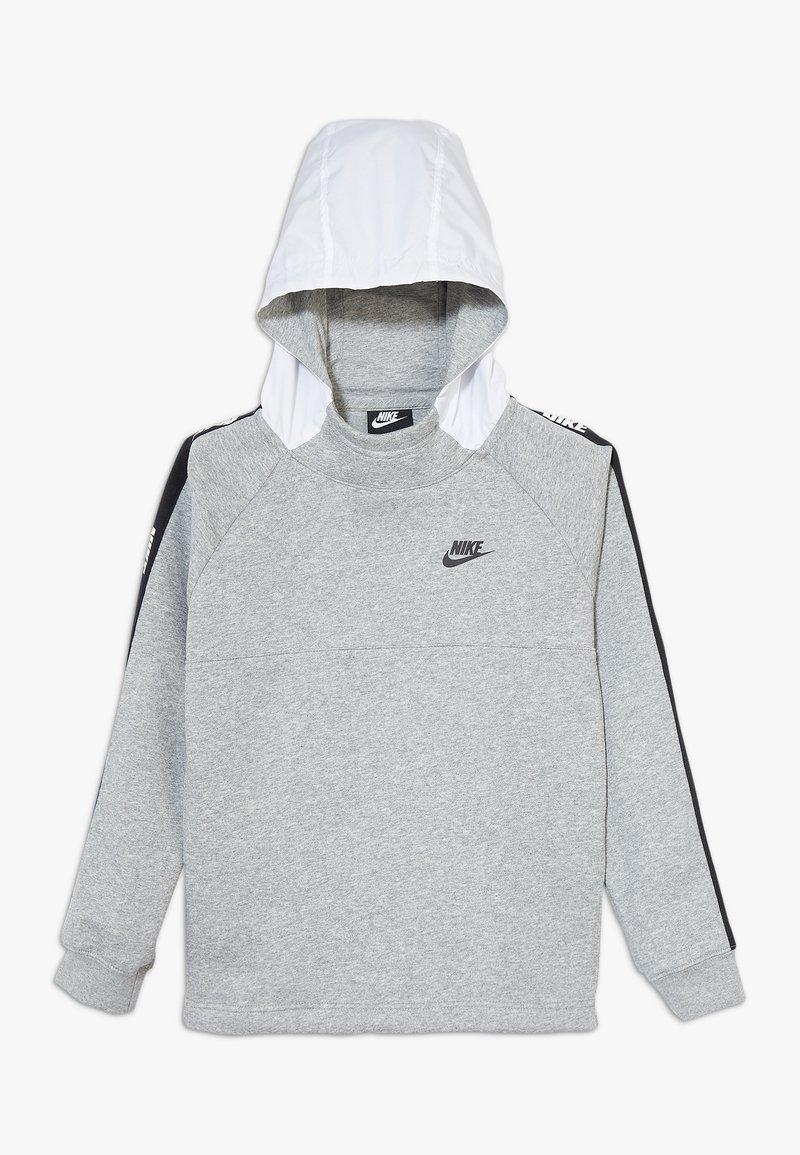 Nike Sportswear - HYBRID  - Hoodie - white/black/dark grey heather