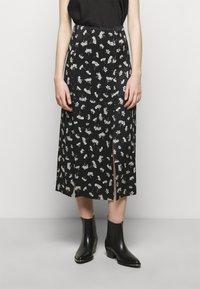 maje - JISEILLE - A-line skirt - groseilles noir - 3