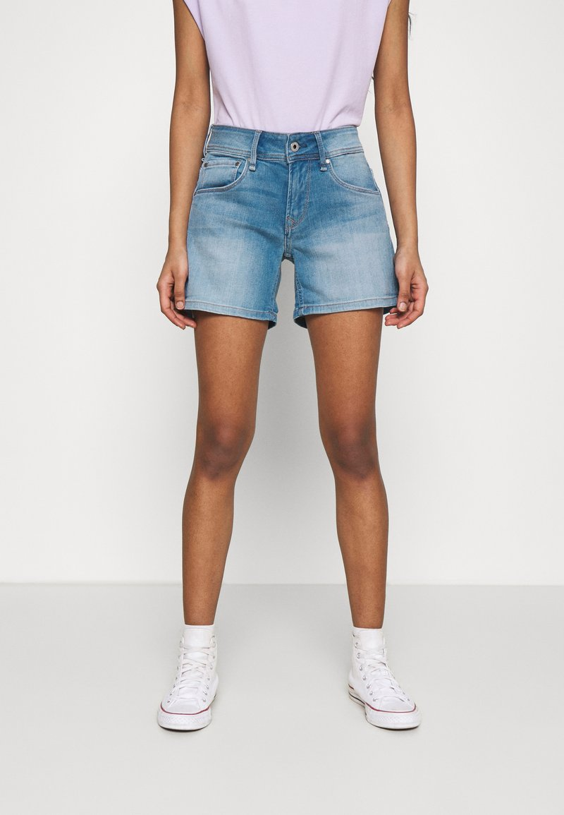 Pepe Jeans - SIOUXIE - Jeansshort - blue denim