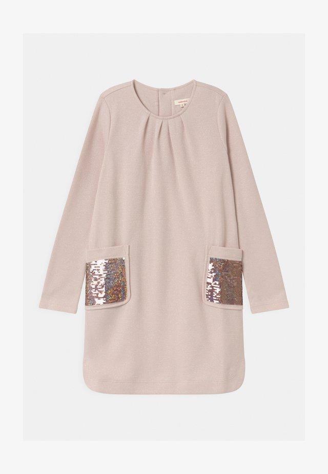 ROBE - Robe pull - rose argente