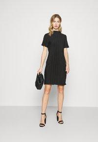 Weekday - ELAINE PLEAT SHORT DRESS - Day dress - black - 1