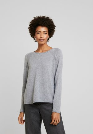 CUALAIA - Strikkegenser - light grey melange