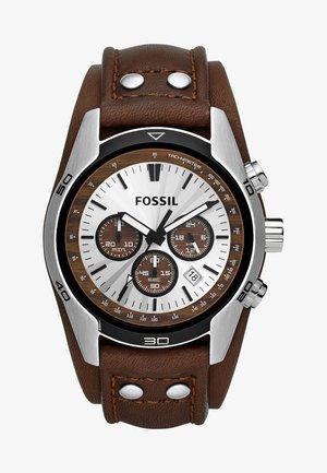 Chronograph watch - silber/braun