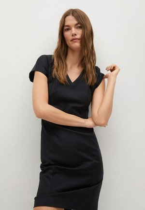COFI7-A - Shift dress - zwart