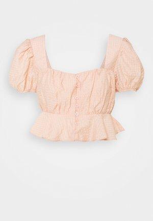 FRILL HEM CUFF SLEEVE CROP  - Blusa - nude rose