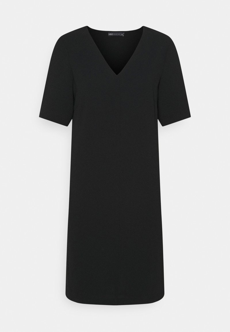 Marks & Spencer London - PLAIN SHIFT DRESS - Sukienka letnia - black