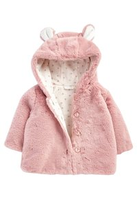 Next - HOODED EARS COSY BUTTON-UP  - Fleece jacket - pink - 2