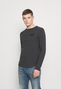 GAP - ARCH THERMAL - Long sleeved top - charcoal heather - 0