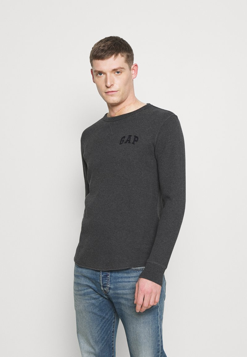 GAP - ARCH THERMAL - Long sleeved top - charcoal heather