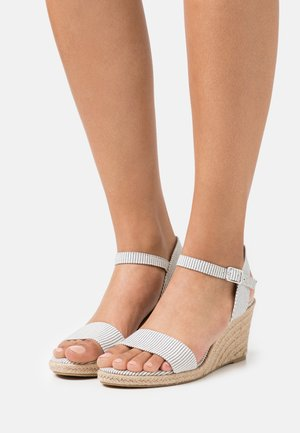 Wedge sandals - denim
