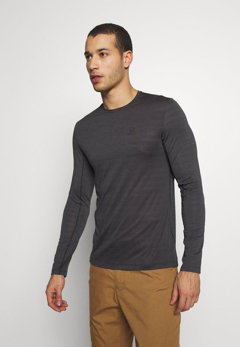 Salomon - TEE - Long sleeved top - black/heather