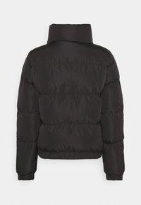 SIKSILK - PRINTED TAPE PADDED CROP JACKET - Winter jacket - black - 1