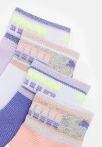 Puma - KIDS SEASONAL QUARTER 4 PACK UNISEX - Socks - white/light pink - 1