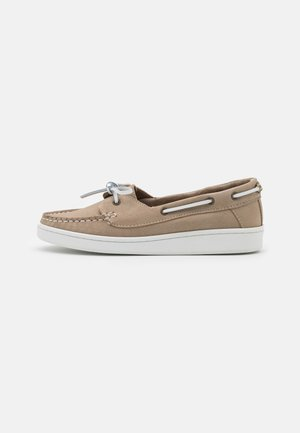MIRANDA - Boat shoes - stone