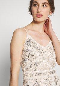 Sista Glam - FLORY - Suknia balowa - cream silver - 5