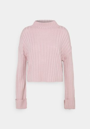 CROPPED TURTLE NECK - Jumper - lilac