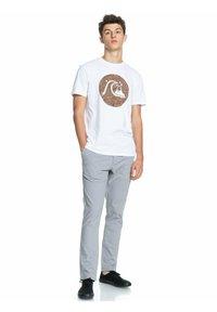 Quiksilver - BUBBLE JAM  - Print T-shirt - white - 1