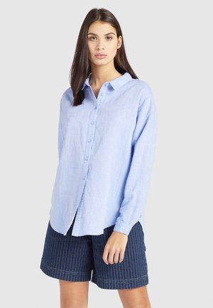 SAHAR - Button-down blouse - blau