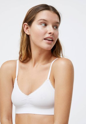 SEAMLESS  - Triangle bra - white