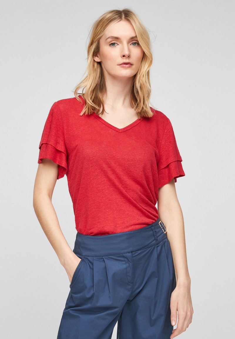 s.Oliver - Print T-shirt - true red