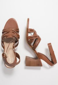 ALDO - HOLLANDSE - High heeled sandals - cognac - 3