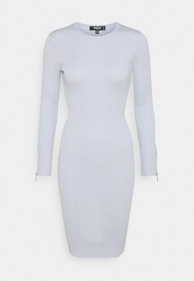 ZIP DETAIL MIDI DRESS - Korte jurk - blue