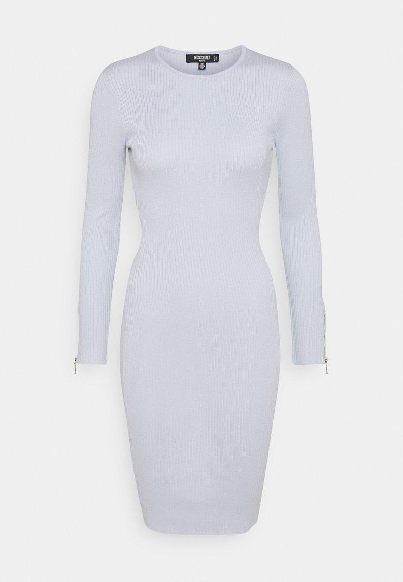 Missguided Petite - ZIP DETAIL MIDI DRESS - Day dress - blue