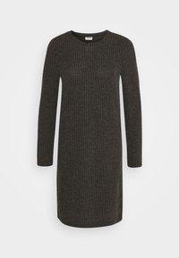 Noisy May - NMLUCIE ONECK DRESS - Jumper dress - dark grey melange - 4