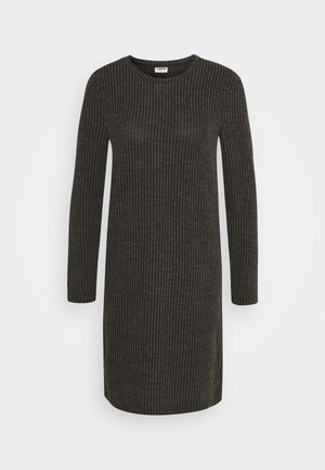 NMLUCIE ONECK DRESS - Strikket kjole - dark grey melange