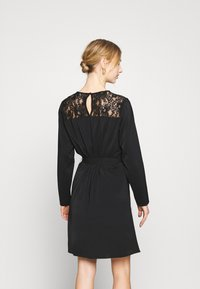 Vila - VISISA TIE BELT DRESS - Day dress - black - 2