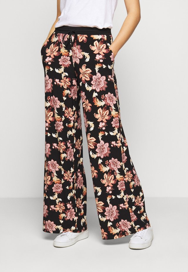 Trousers - black/multi