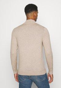 Burton Menswear London - CORE HALF ZIP - Trui - ecru - 2