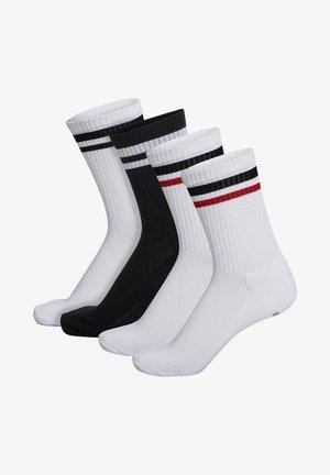 4-PACK MIX - Sportovní ponožky - white/black