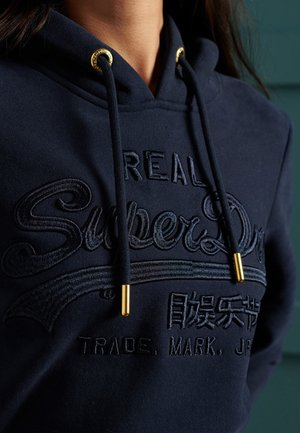 VINTAGE LOGO TONAL EMBROIDERED - Hoodie - nautical navy
