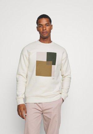 JPRBLAVISUAL CREW NECK - Sweatshirt - egret