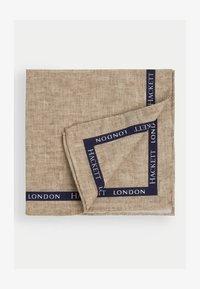 Hackett London - BOARDER SELVEDGE HANK - Scarf - stone - 0