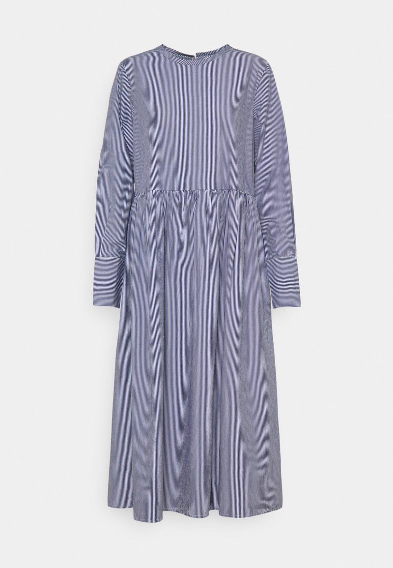 Selected Femme - SLFMIRABELLA STRIPED  DRESS  - Day dress - bright white