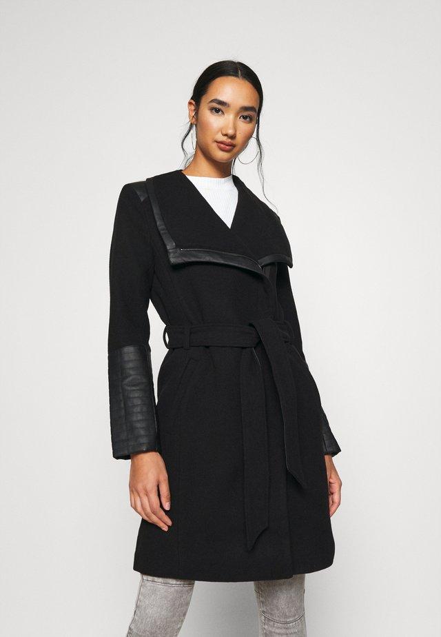 ONLELLY MIX COAT - Manteau classique - black