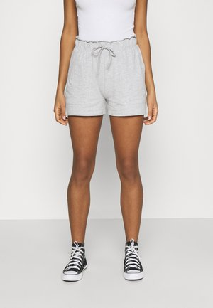 PCNEORA FRILL - Shorts - light grey melange