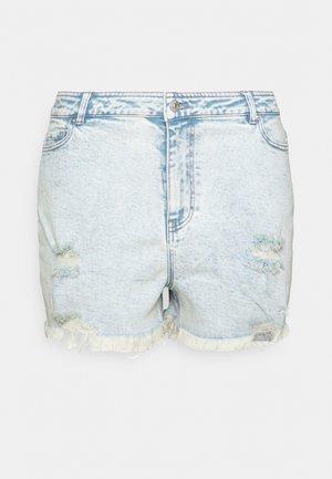 PCLAYA SUPER ACID - Denim shorts - light blue denim