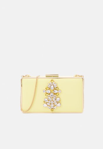 ISABEL EMBELLISHED FRAME CLUTCH - Clutch - yellow