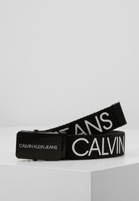 Calvin Klein Jeans - LOGO BELT UNISEX - Belte - black - 1